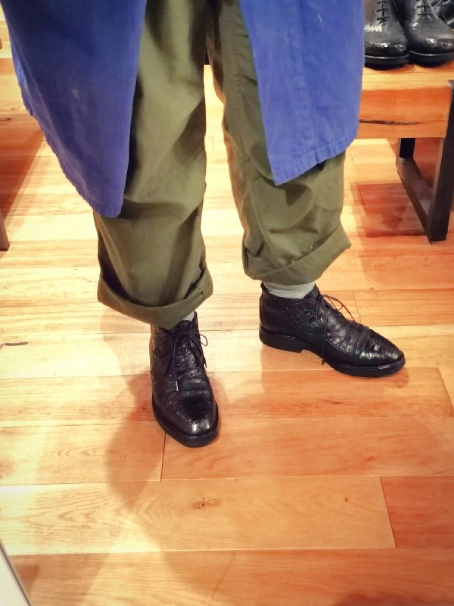クラック補修&お手入れ クロコダイル靴(ワニ革)_f0283816_10205648.jpg