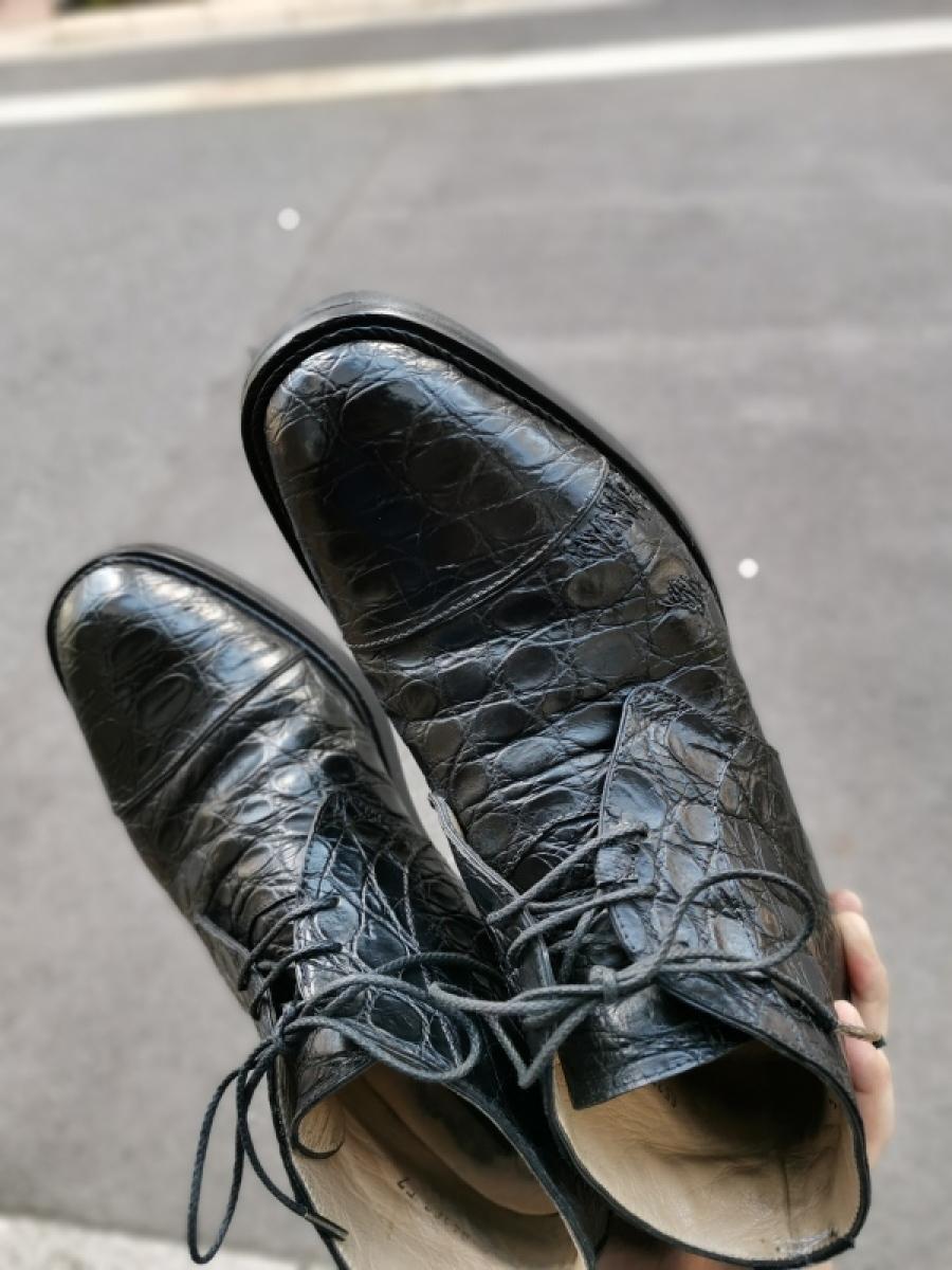 クラック補修&お手入れ クロコダイル靴(ワニ革)_f0283816_10205741.jpg
