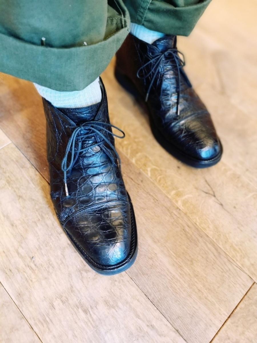 クラック補修&お手入れ クロコダイル靴(ワニ革)_f0283816_10205853.jpg