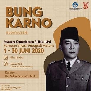 """スカルノ大統領写真展:Pameran Virtual Fotografi Historis \""""Bung Karno: Budaya/Seni\""""  1 - 30 Juni 2020_a0054926_18475410.jpg"""