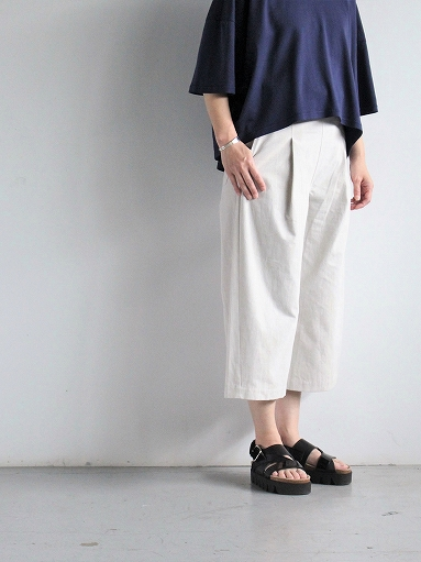 THE HINOKI Cotton Bafu OSFA Wide Half Pants / Oatmeal_b0139281_13265872.jpg
