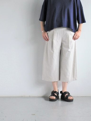 THE HINOKI Cotton Bafu OSFA Wide Half Pants / Oatmeal_b0139281_1327231.jpg