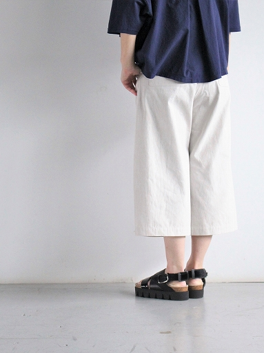 THE HINOKI Cotton Bafu OSFA Wide Half Pants / Oatmeal_b0139281_13272898.jpg