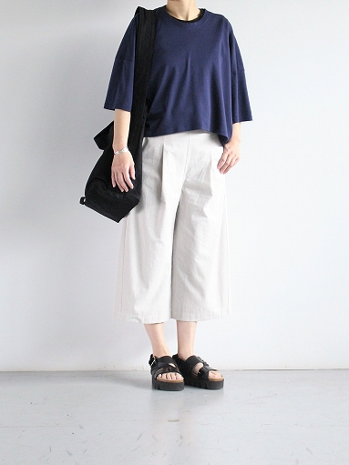 THE HINOKI Cotton Bafu OSFA Wide Half Pants / Oatmeal_b0139281_13275321.jpg