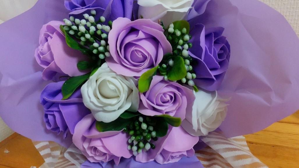 ももちゃんへお花を頂きました!_c0109891_23000380.jpg