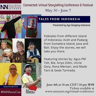インドネシアからも参加@バーチャルストーリーテリング会議・フェスティバル(Virtual Storytelling Conference and Festival) 5/31 - 6/7_a0054926_10042286.jpg