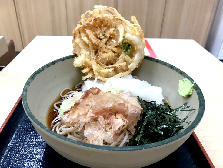 おろし蕎麦+かき揚げ@箱根そば (≧▽≦)やっと食べた!_c0212604_1647255.jpg