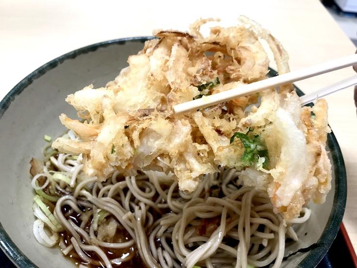 おろし蕎麦+かき揚げ@箱根そば (≧▽≦)やっと食べた!_c0212604_16474510.jpg