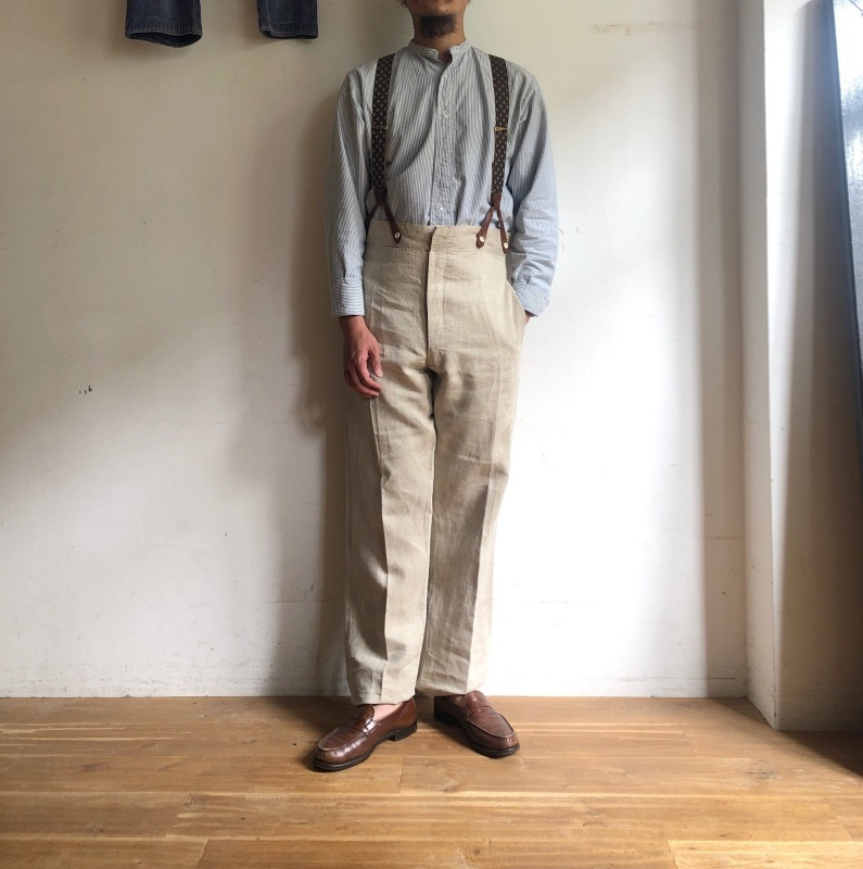 French Military Bourgeron Trousers HBT Linen_f0370108_14264929.jpg