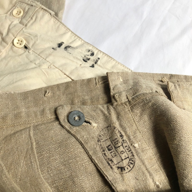 French Military Bourgeron Trousers HBT Linen_f0370108_14265907.jpg