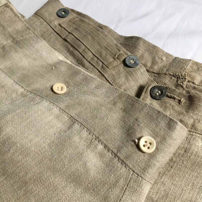 French Military Bourgeron Trousers HBT Linen_f0370108_14270308.jpg