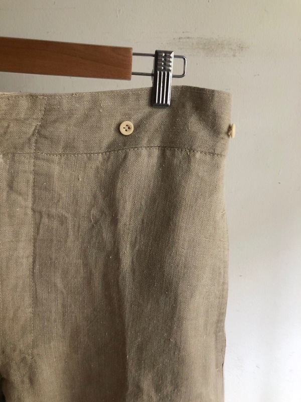 French Military Bourgeron Trousers HBT Linen_f0370108_14270909.jpg