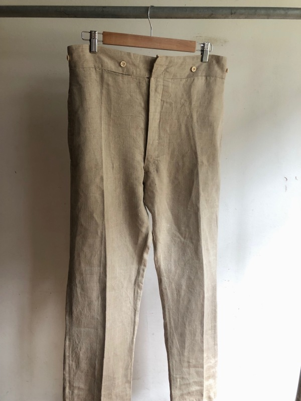French Military Bourgeron Trousers HBT Linen_f0370108_14271313.jpg