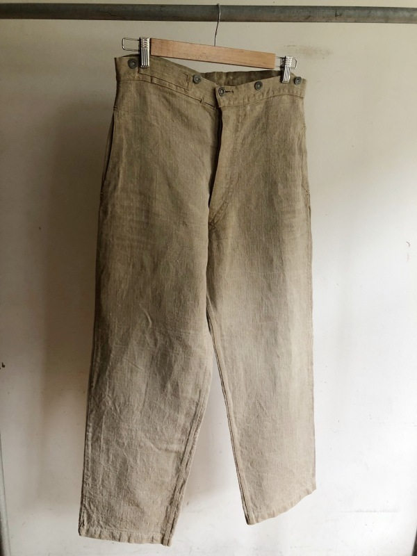 French Military Bourgeron Trousers HBT Linen_f0370108_14272141.jpg