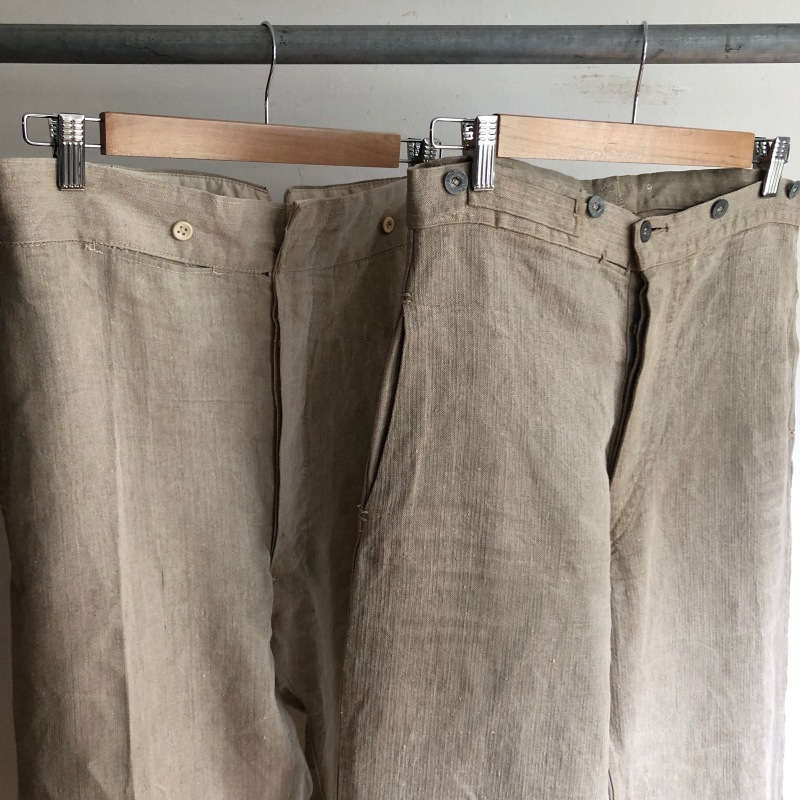 French Military Bourgeron Trousers HBT Linen_f0370108_14272574.jpg
