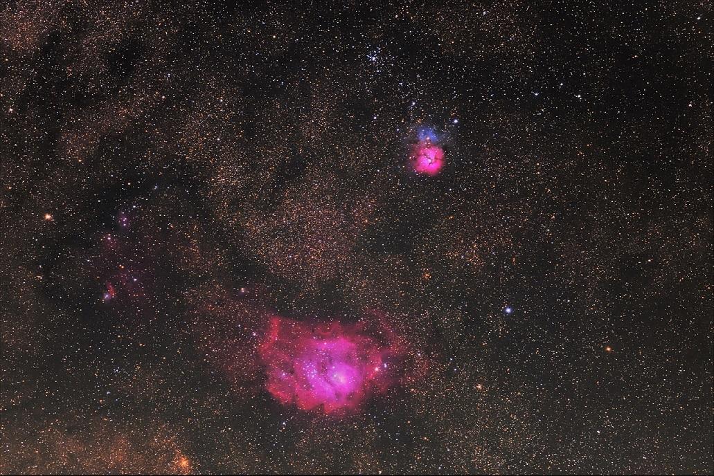 干潟星雲(M8)と三裂星雲(M20)とM21_e0344621_15262606.jpg