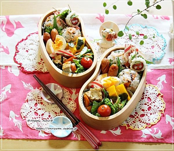 鮭と大葉の丸むすび弁当とおうちごはん♪_f0348032_16301055.jpg