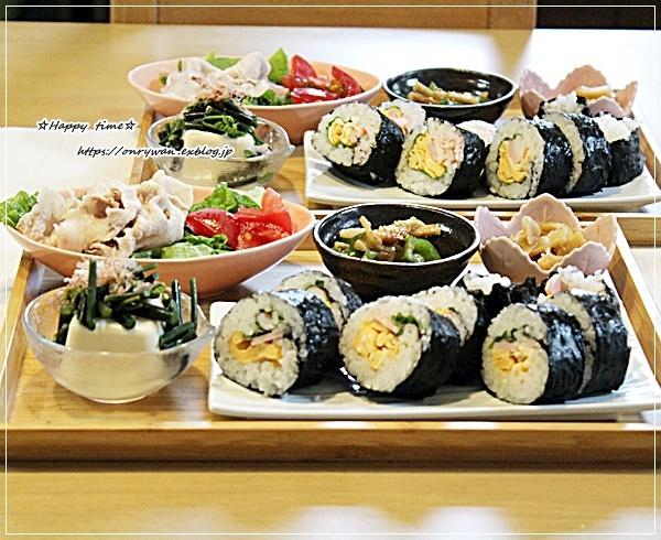 鮭と大葉の丸むすび弁当とおうちごはん♪_f0348032_18010715.jpg