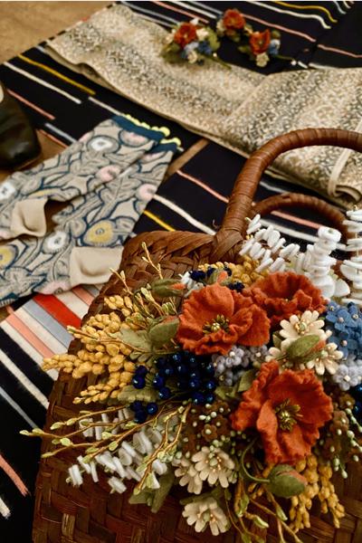 梅雨時の洋装Mixスタイル!銘仙の着物に靴をコーディネート_e0333647_17331697.jpg