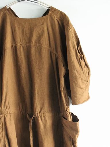 R&D.M.Co- GARMENT DYE DRAWSTRING DRESS / Brown_b0139281_14431814.jpg