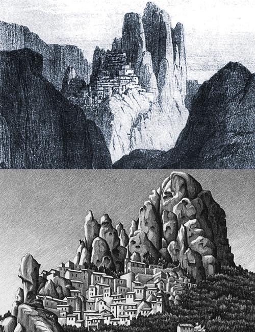ペンテダッティロ 悲劇を背負い廃墟と化した奇岩の村_f0205783_15265137.jpg
