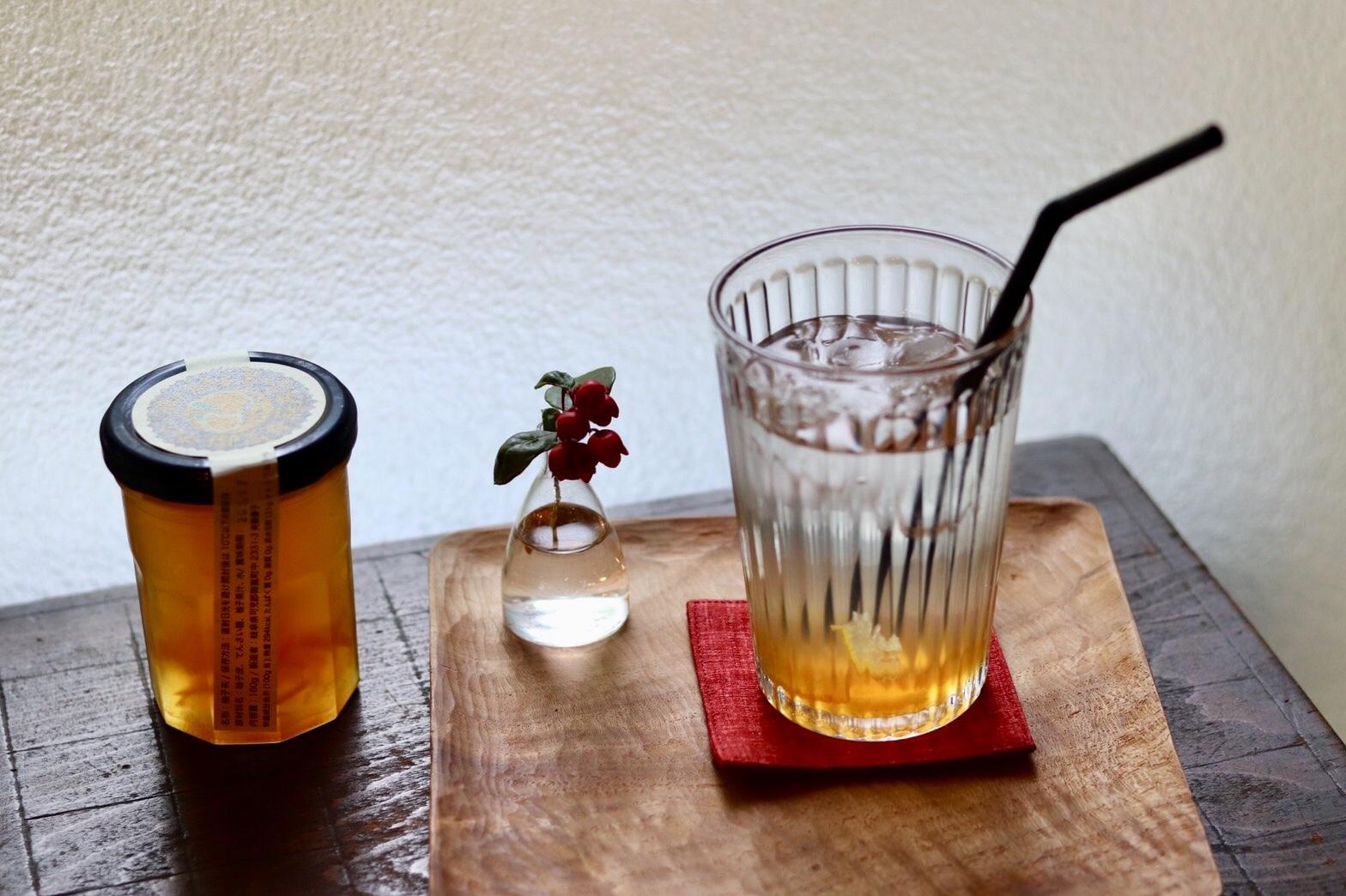 カフェ百時さんに柚子茶を納品しました_e0155231_23490754.jpeg