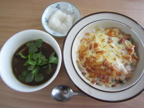 お昼ごはんは・・・ドリア_b0021059_09232229.jpg
