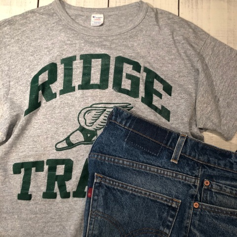 """1980s \"""" CHAMPION - Print TRICO tag - \"""" - ヒビ割れラバープリント - Vintage ATHLETIC TEE SHIRTS ._d0172088_19383505.jpg"""