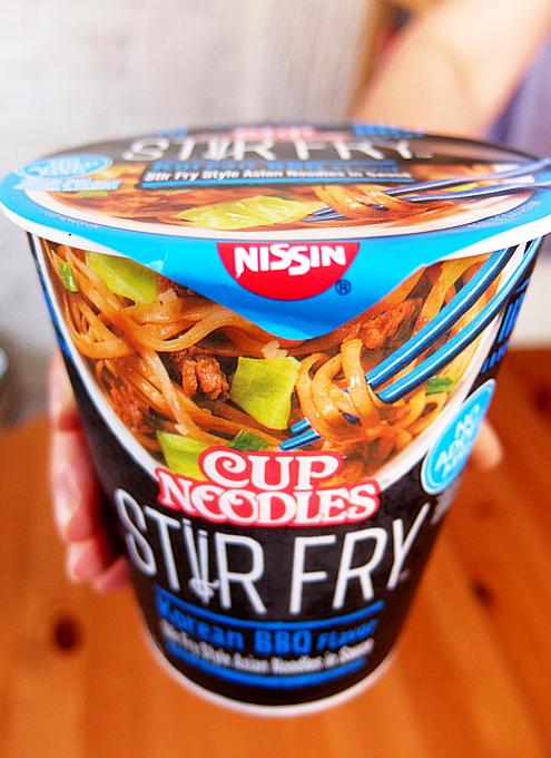 米国版カップヌードル史上初のスープなしヌードル、ステア・フライ(Stir Fry、焼きそば)食べてみました_b0007805_23473510.jpg