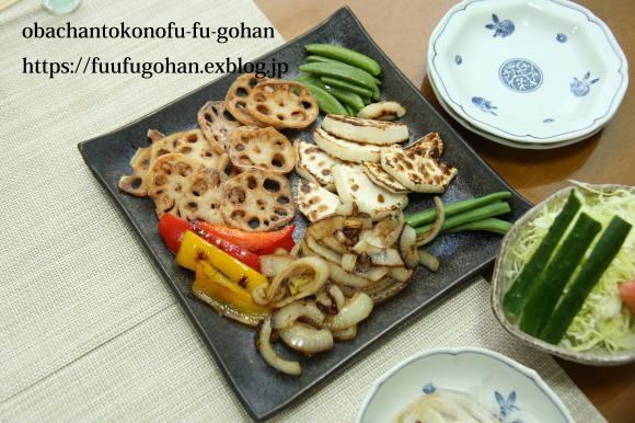 休日のおうちバルは、焼き肉パーティー&お野菜たっぷりのっけ弁_c0326245_11490425.jpg