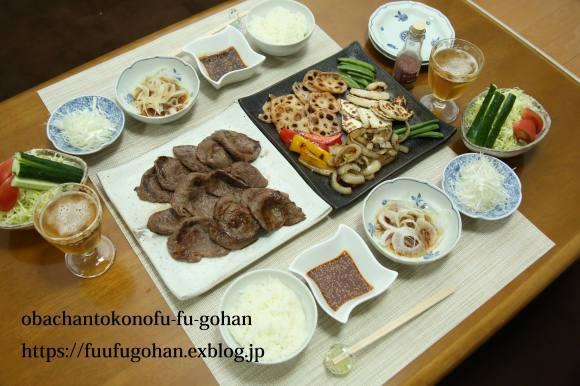 休日のおうちバルは、焼き肉パーティー&お野菜たっぷりのっけ弁_c0326245_11494566.jpg