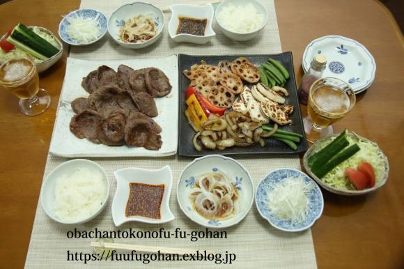 休日のおうちバルは、焼き肉パーティー&お野菜たっぷりのっけ弁_c0326245_11495629.jpg