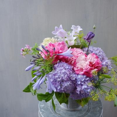 オークリーフ(バラParisと紫陽花のアレンジメント)_f0049672_15144890.jpg