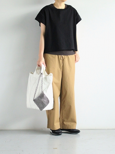 eleven 2nd Fine Cotton Nylon Wide Pants_b0139281_14243925.jpg
