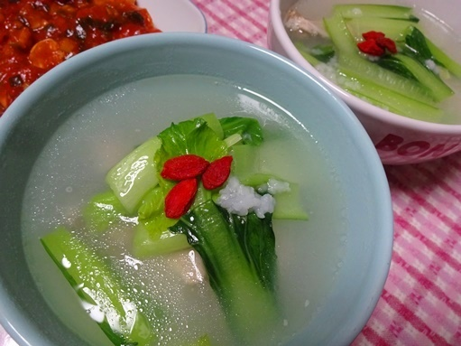 暑いのに参鶏湯風スープ _c0394349_20482298.jpg