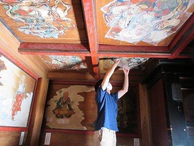 山門「天井画・板壁画」修復_b0092684_11074595.jpg