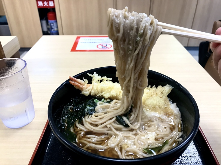 とろろ蕎麦+海老天@箱根そば & そして朝の失敗…。_c0212604_1235542.jpg