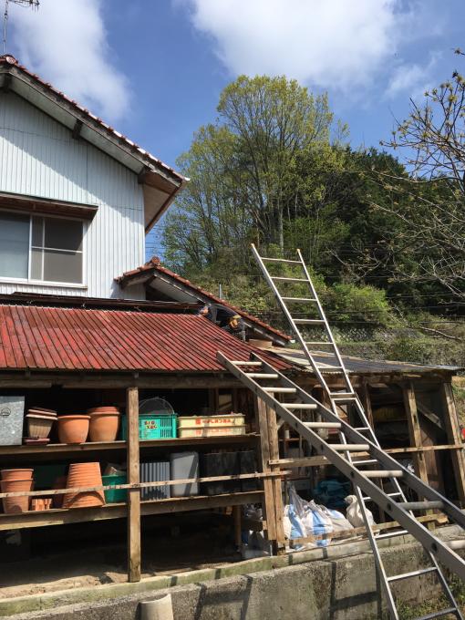 南側の納屋。その4。屋根です。_f0182246_21054232.jpg
