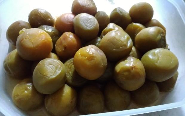 菖蒲湯と梅の青煮_f0153475_18393992.jpg