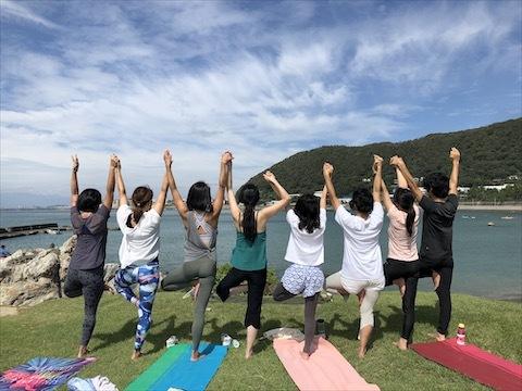 Beach yogaから始まります♪_a0267845_08423344.jpg