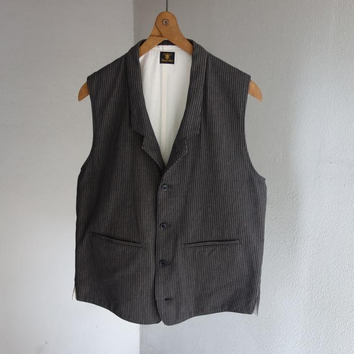 8月の製作 / DA classic stripe waistcoat_e0130546_13405343.jpg