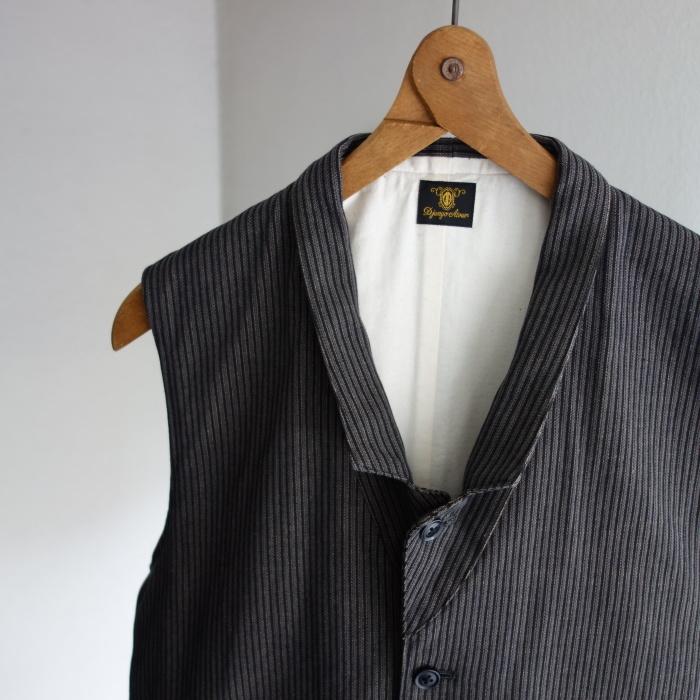 8月の製作 / DA classic stripe waistcoat_e0130546_13411416.jpg