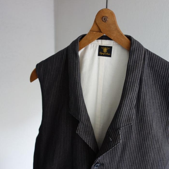 8月の製作 / DA classic stripe waistcoat_e0130546_13414265.jpg