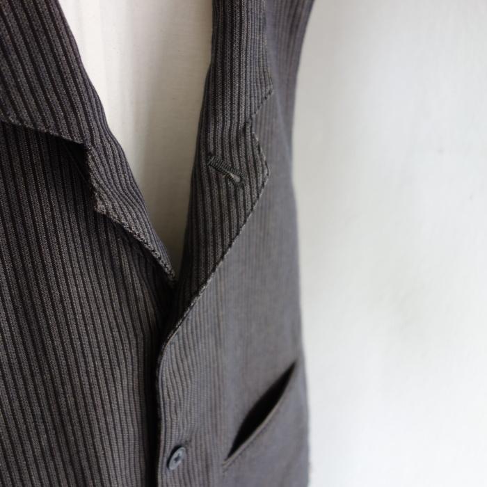 8月の製作 / DA classic stripe waistcoat_e0130546_13423338.jpg