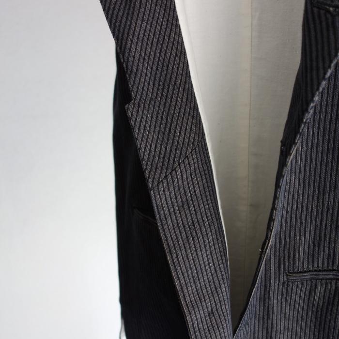 8月の製作 / DA classic stripe waistcoat_e0130546_13425750.jpg