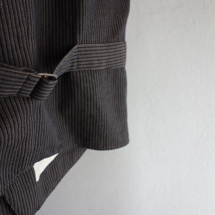 8月の製作 / DA classic stripe waistcoat_e0130546_13434659.jpg
