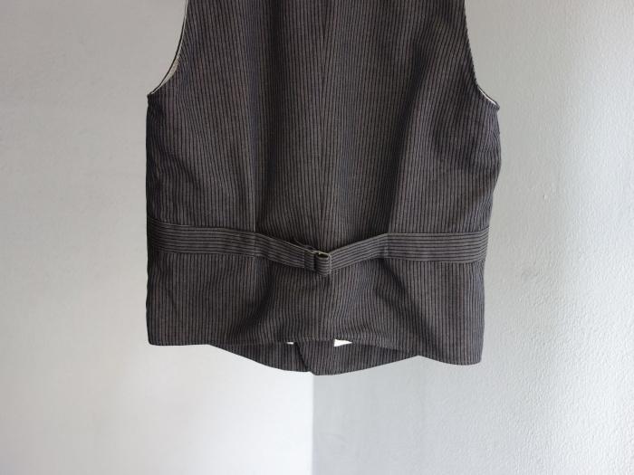 8月の製作 / DA classic stripe waistcoat_e0130546_13450622.jpg
