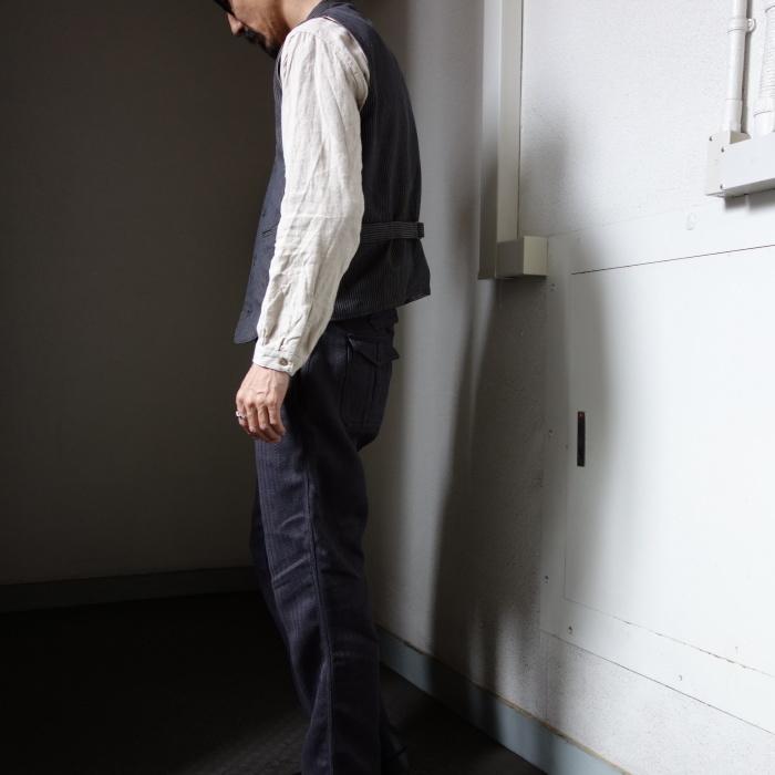 8月の製作 / DA classic stripe waistcoat_e0130546_13500022.jpg