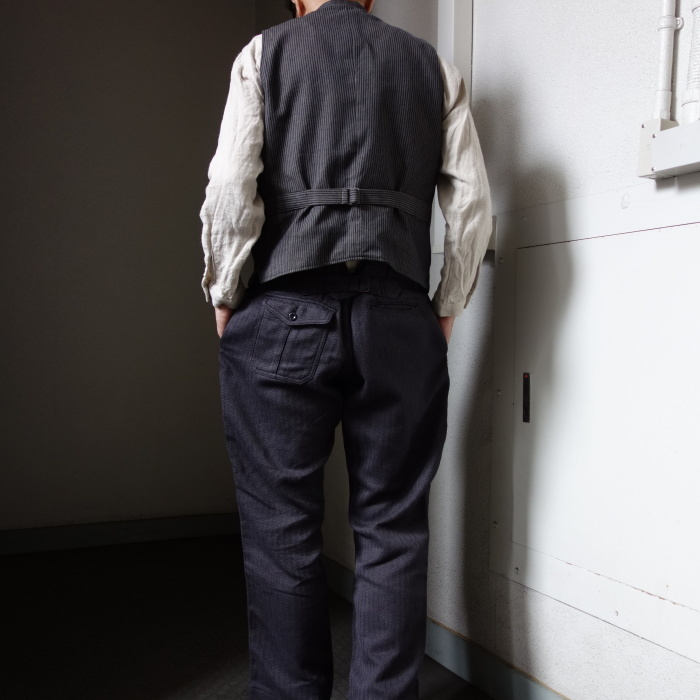 8月の製作 / DA classic stripe waistcoat_e0130546_13502434.jpg