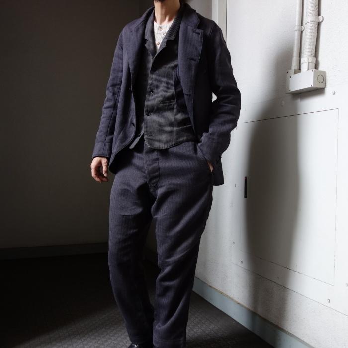 8月の製作 / DA classic stripe waistcoat_e0130546_13504408.jpg
